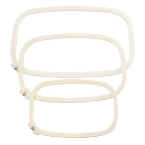 Plastic Embroidery Frame Two Layer Cross Stitch Hoop Ring Sewing Tool Rectangle