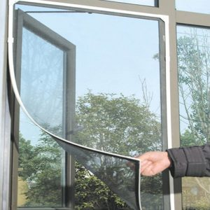 Black Anti Mosquito Pest Window Net Mesh Screen Curtain Protector