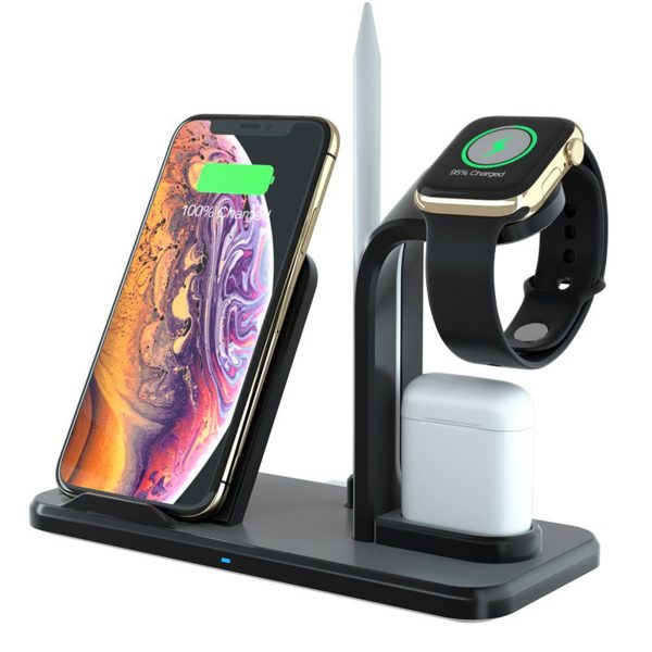Qi Wireless Charger Fast Charging Phone Holder Watch Holder Pencil Holder Earphone Holder For Smart Phone Apple Watch Apple AirPods