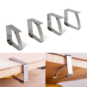 4pcs Stainless Steel Tablecloth Clip Table Cover Cloth Loaded Clamp Holder