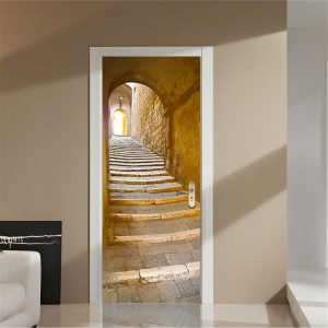 200X77CM 3D Creative Stairs Passage PVC Self Adhesive Door Wall Sticker Decor Sticker