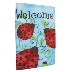 12x18'' Ladybirds Welcome Garden Flags Yard Banner Holiday House Decorations""