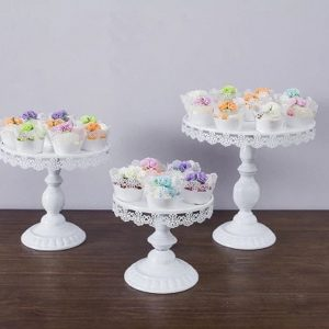 White Round Cake Cupcake Stand Modern Dessert Wedding Birthday Party Event Decorations