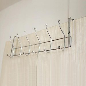 Stainless Steel 12 Hooks Storage Hat Coat Towel Bathroom Door Hanger