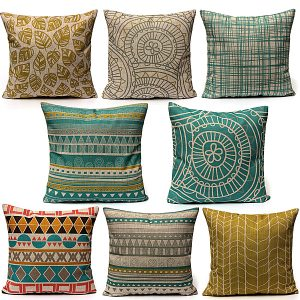 Minimalist Style Pillow Case Home Linen Cushion Cover Fashion Colorful Geometric Patterns
