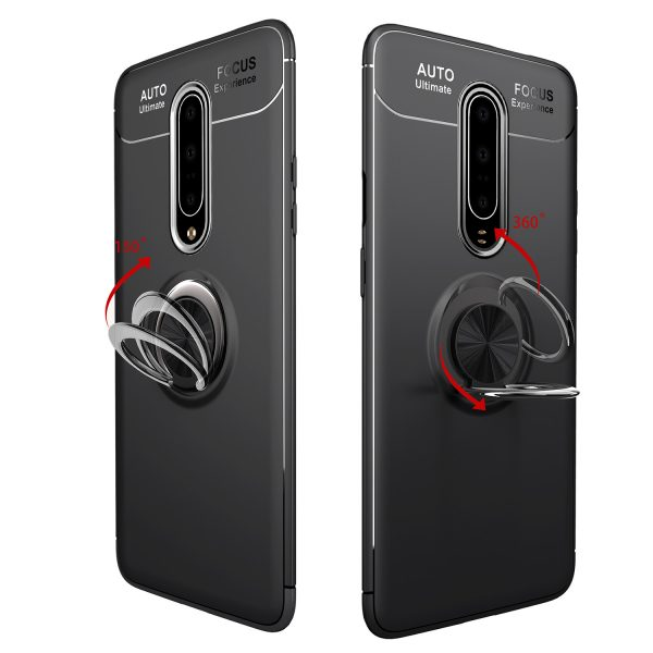 Bakeey Shockproof Magnetic Adsorption Protective Case with Finger Ring Holder for OnePlus 7 PRO