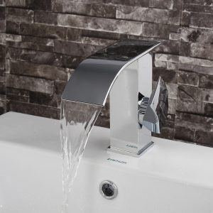 Luxury Single Lever Bathroom Vanity Basin Sink Faucet Waterfall Mono Mixer Tap