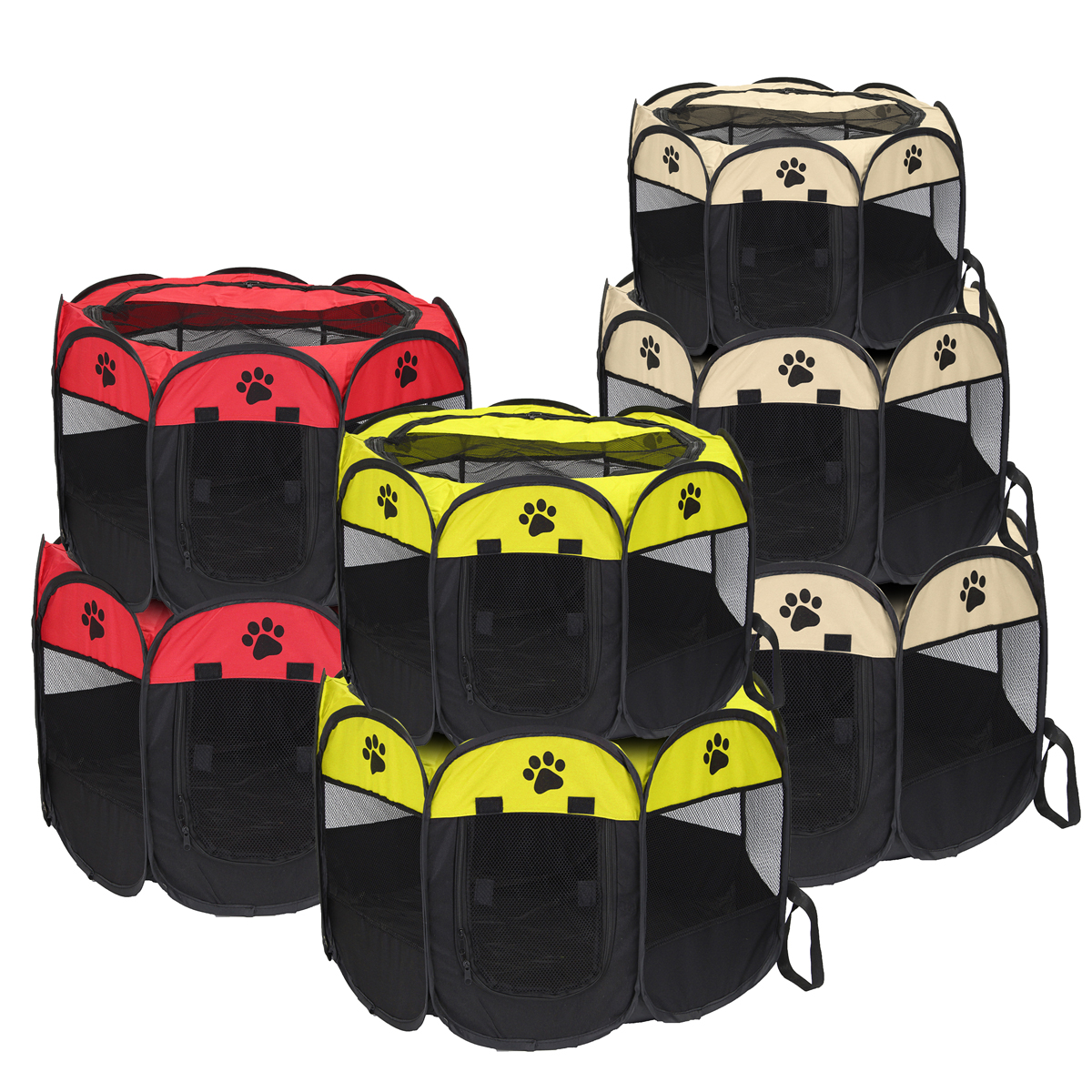 8 Panel Portable Puppy Dog Pet Cat Playpen Crate Cage Exercise Cage Pen Tent