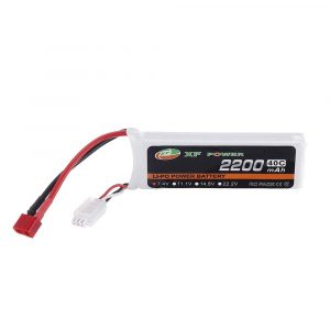 XF POWER 7.4V 2200mAh 40C 2S Lipo Battery T Plug for RC Car