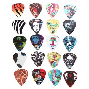 5pcs Mix-color Celluloid Acoustic Electric Guitar Picks
