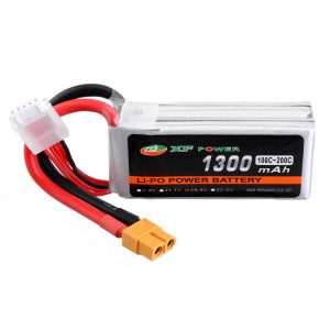 XF POWER 14.8V 1300mAh 100C/200C 4S Lipo Battery XT60 Plug for RC Racing Drone
