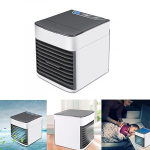 IPRee Portable USB Air Cooler Fan Mini Air Conditioner 3 Modes Wind Cooling Humidifier