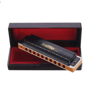 Easttop T008S 10 Hl Bruce Blues Harmonica ABCDEFG Nyckel Svart / Silver