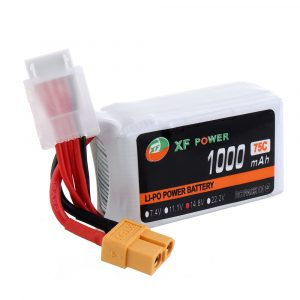 XF POWER 14.8V 1000mAh 75C 4S Lipo Battery XT60 Plug for RC Racing Drone