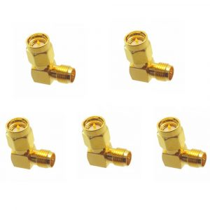 5PCS SMA Male to RP-SMA Female Right Angle RF Adapter Connector For RC Drone
