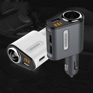 Bakeey 3.1A 3 Port LED Display Fast Charging USB Car Charger For iPhone X XS HUAWEI P30 Oneplus 7 XIAOMI MI9 S10 S10+