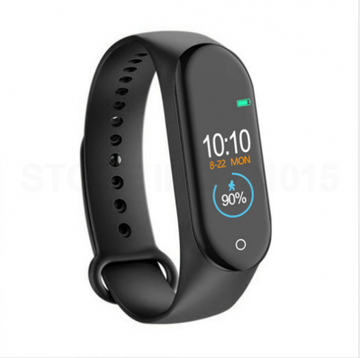 Bakeey M4 Heart Rate Blood Pressure Monitor Alarm Clock bluetooth Camera IP67 Waterproof Smart Watch Bracelet