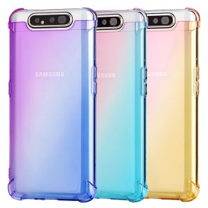 Bakeey Gradient Color Air Cushion Corner Shockproof Soft TPU Protective Case for Samsung Galaxy A80 2019
