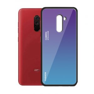 Bakeey Gradient Color Shockproof Tempered Glass Protective Case for Xiaomi Pocophone F1