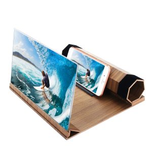 12 3D HD Rollable Wood Phone Screen Magnifier Video Movie Amplifier For Smart Phone""