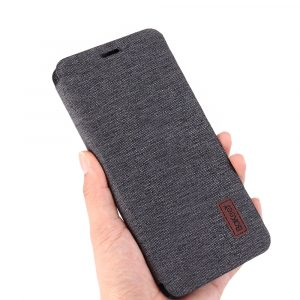 Bakeey Flip Shockproof Fabric Soft Silicone Edge Full Body Protective Case For OnePlus 7