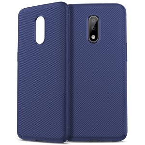 Bakeey Carbon Fiber Texture Shockproof Soft TPU Protective Case for Oneplus 7