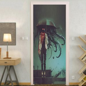 Miico MT011 Door Sticker Halloween Sticker Removable Wall Sticker Room Decoration