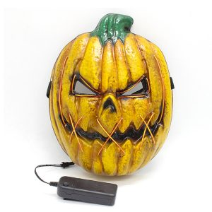 3 Flash Modes Halloween Pumpkin Light Up Mask LED Flash Cosplay Costume Party