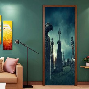 Miico MT007 Door Sticker Halloween Sticker Removable  Wall Sticker For Room Decoration
