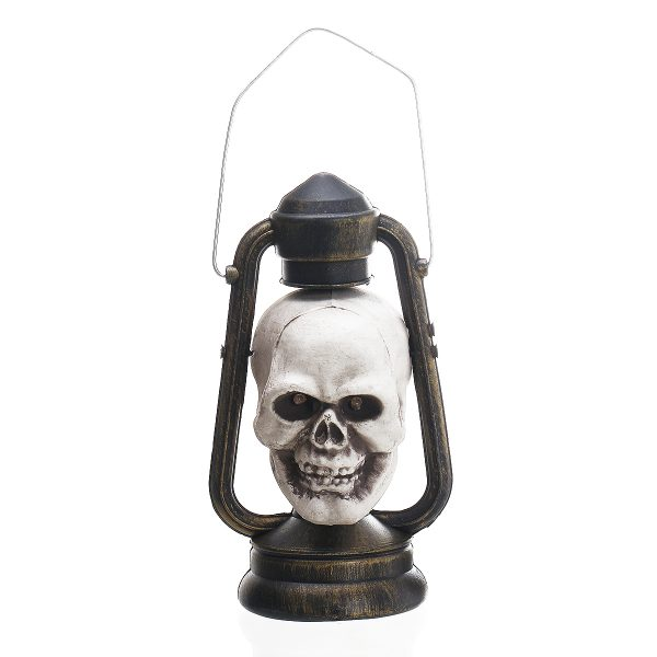 Portable LED Glowing Skull Hand Lantern Halloween Atmostphere Light Hanging Lamp Ghost Scary Haunted House Decoration