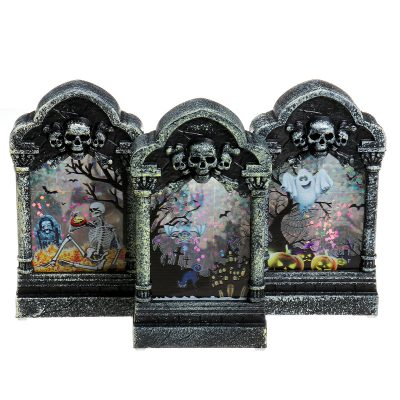Halloween Gravestone Light Box Light Decorations Prop Tombstone LED Theme Party Decor