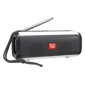 Portable bluetooth Wireless Speaker Dual Drivers FM Radio TF Card 3D Stereo LED Light Subwoofer with Mic