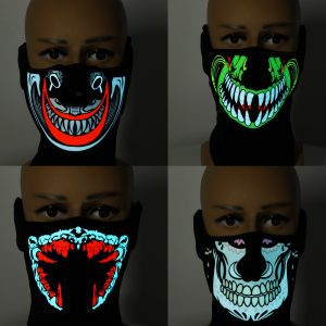 Cool Light Halloween LED Mask Cool Light Up Cosplay Party Flashing Luminous Ghost Skull Hot