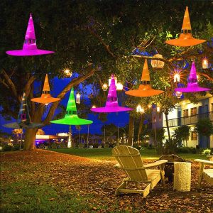 Halloween LED Witch Hat Party Prop Decor Costume Cosplay Accessory Supply