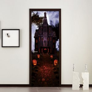 Miico MT002 Halloween Sticker Door Sticker Creative  Removable Wall Sticker - Papaya Castle