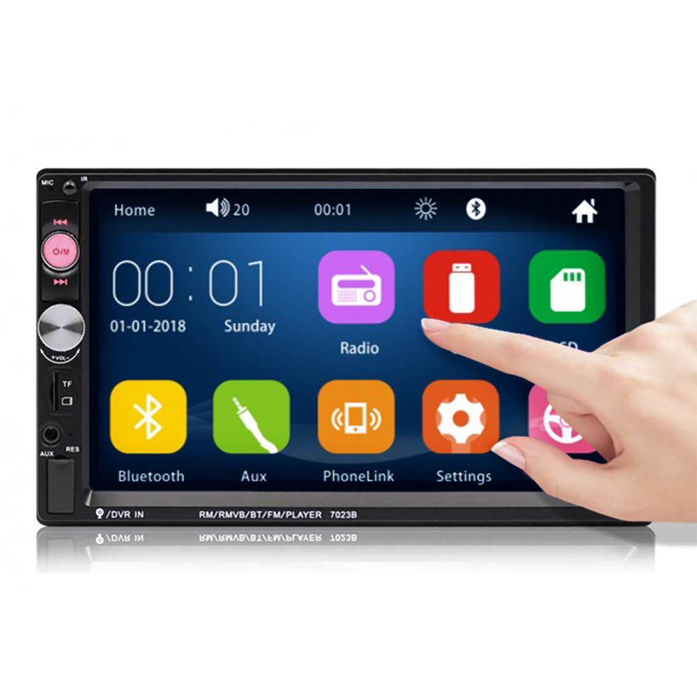 7/'/' Touch Screen FM Bluetooth Radio Stereo Video Player High Definition Camera