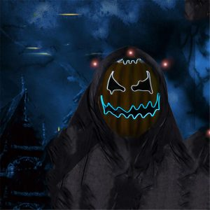 Halloween LED Light Mask Pumpkin Masks Carnival Night Cosplay Costume Prop Decor