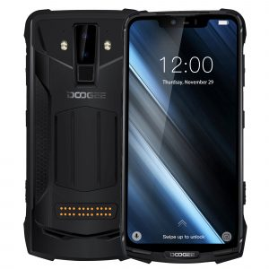 DOOGEE S90C Global Bands IP68 Waterproof 6.18 inch FHD+ NFC 5050mAh 16MP+8MP AI Dual Rear Cameras 4GB 64GB Helio P70 Octa Core 4G Smartphone