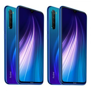 2Pcs Xiaomi Redmi Note 8 Global Version 6.3 inch 48MP Quad Rear Camera 4GB 64GB 4000mAh Snapdragon 665 Octa core 4G Smartphone Blue