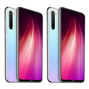 2Pcs Xiaomi Redmi Note 8 Global Version 6.3 inch 48MP Quad Rear Camera 4GB 64GB 4000mAh Snapdragon 665 Octa core 4G Smartphone White