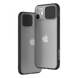 BlitzWolf® BW-AY2 Anti-Hacker Peeping Slide Lens Cover Shockproof Anti-scratch Translucent Protective Case for iPhone 11 / for iPhone 11 Pro / for iPhone 11 Pro Max