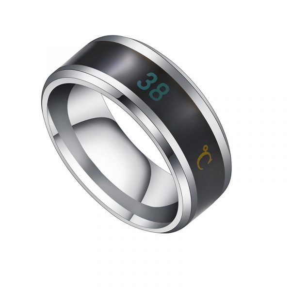 Smart Temperature Ring Steel Couple Temperature Ring Jewelry