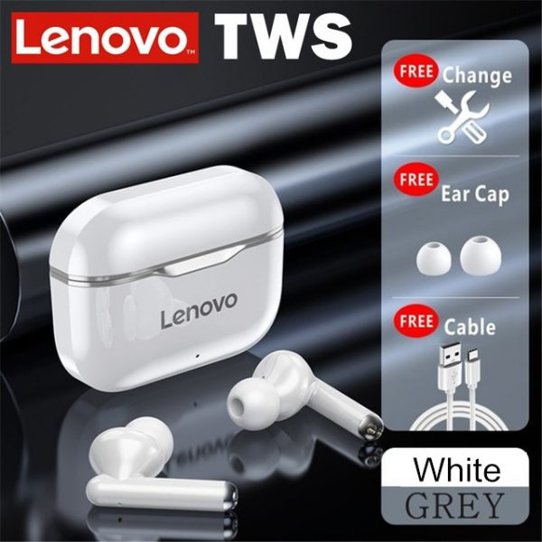 NEW Lenovo LP1 TWS bluetooth Earbuds IPX4 Waterproof Sport Headset Noise Cancelling HIFI Bass Headphone with Mic Type-C Charging