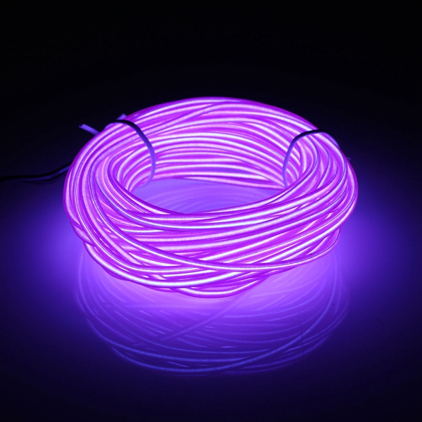 10M EL LED Flexible Soft Tube Wire Neon Glow Car Rope Strip Light Xmas Decor DC12V