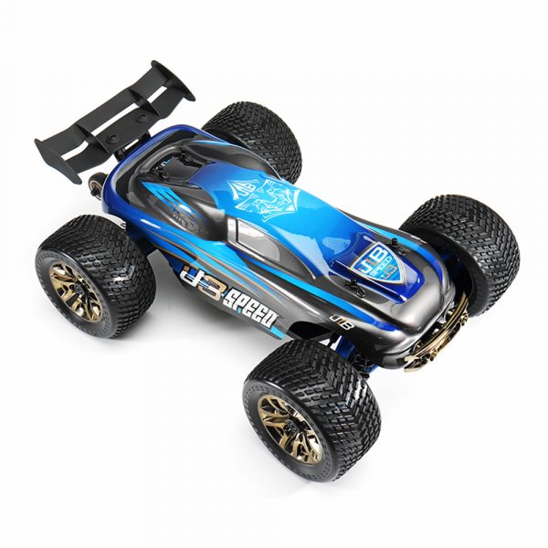 JLB Racing J3 Speed w/ 2 Battery 120A Upgraded 1/10 2.4G 4WD Truggy RC Car Truck Vehicles RTR Model