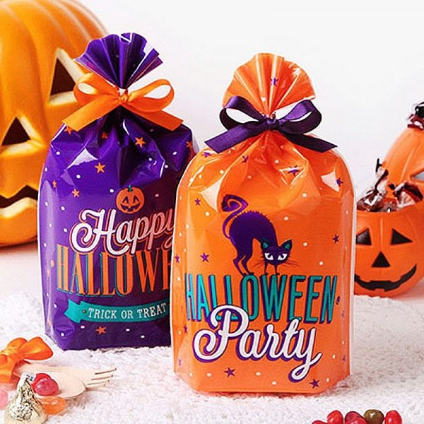 20/40pcs Halloween Candy Bags Cute Gift Bag Trick or Treat Kids Gift Pumpkin Bat Candy Boxes Halloween Party Decoration Supplies