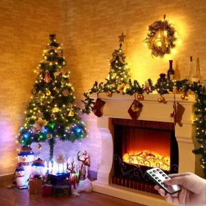 5M 10M 20M USB 8 Modes Copper Wire LED String Light for Christmas Holiday Home Decor + Remote Control
