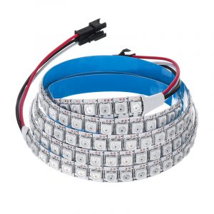 100CM WS2812B 5050SMD Non-waterproof 100 LED RGB Strip Light Built-In IC for Hotel Bar Home DC5V