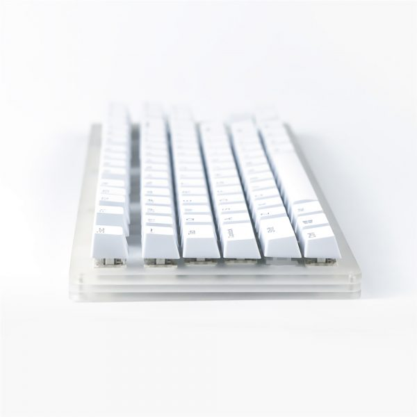 GamaKay K87 87 Keys Hot Swappable Mechanical Keyboard Type-C Wired USB 3.1 Translucent Glass Base Gateron Switch ABS Two-color Keycap RGB Gaming Keyboard