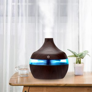 300ml Electric Ultrasonic Air Mist Humidifier Purifier Aroma Diffuser 7 Colors LED USB Charging for Home Car Office